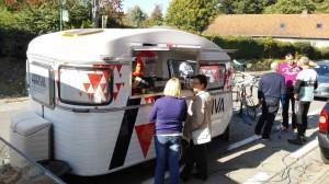 ARRIVA - mobiele koffiebar en fietshersteldienst in één.